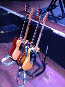 1974 Fender Telecaster Custom, 2007 Gibson Chambered '58 Reissue, 1993 Fender '52 Reissue Telecaster, 1962 Gibson SG Special.